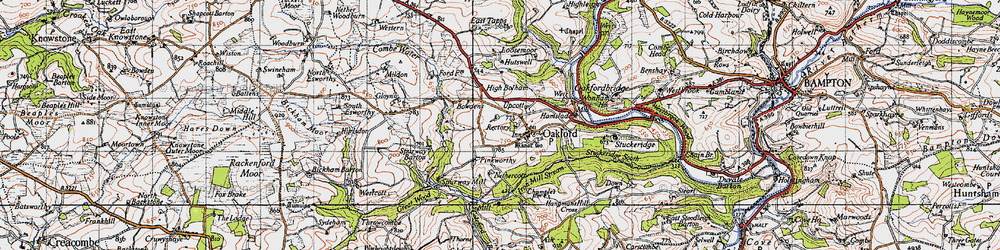 Old map of West Tapps in 1946