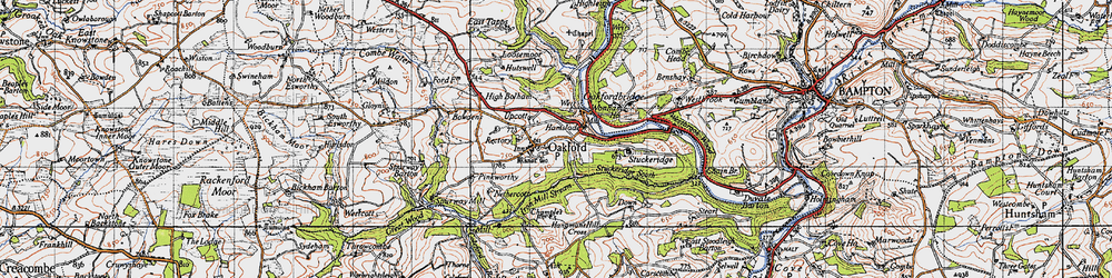 Old map of Westbrook Wood in 1946