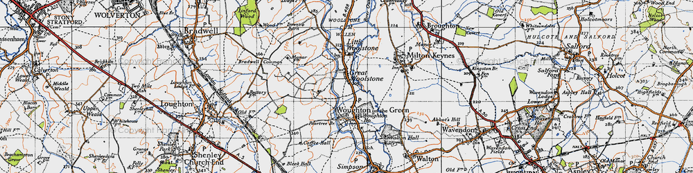 Old map of Newlands in 1946