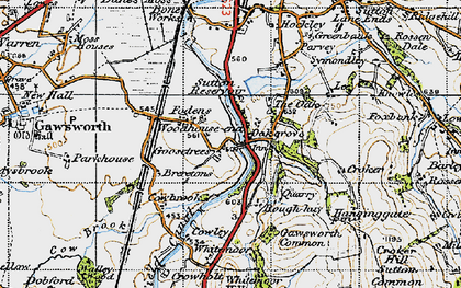 Old map of Oakgrove in 1947