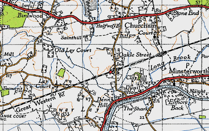 Old map of Ley Court in 1947