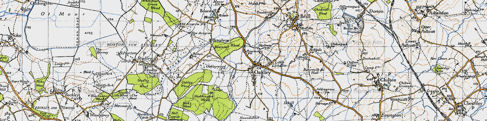 Old map of Oakley in 1946