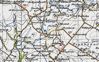 Old map of Bailey Water in 1947