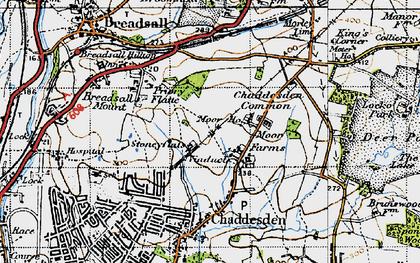 Old map of Oakwood in 1946