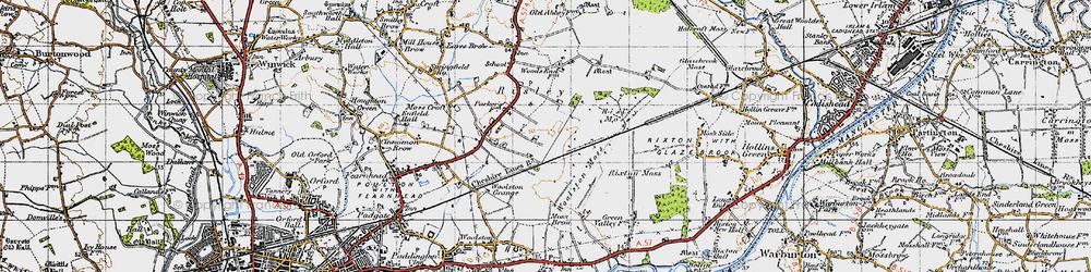Old map of Oakwood in 1947