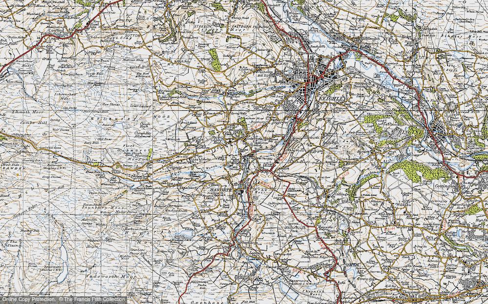 Old Map of Oakworth, 1947 in 1947