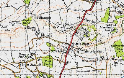 Old map of Oare in 1940