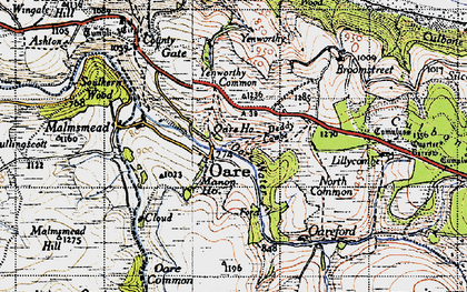 Old map of Yellow Stone in 1946