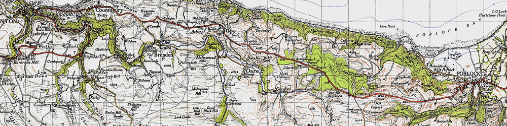 Old map of Yenworthy Common in 1946