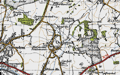 Old map of Ockbrook in 1946
