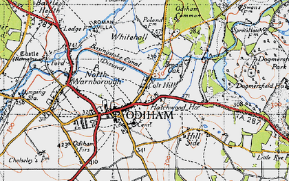 Old map of Odiham in 1940