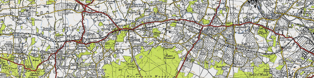Old map of Aldon in 1946