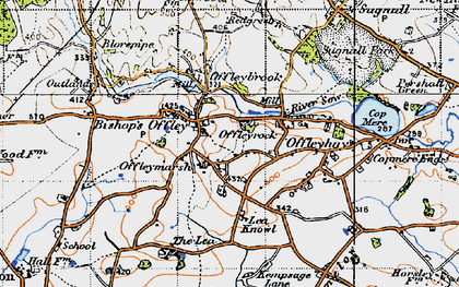 Old map of Lea Knowl in 1946