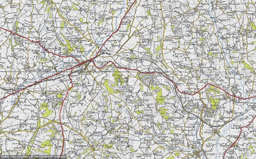 Old Map of Offwell, 1946 in 1946