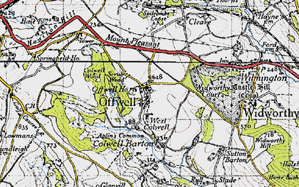 Old map of Offwell in 1946
