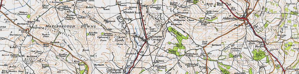 Old map of Yielding Copse in 1947