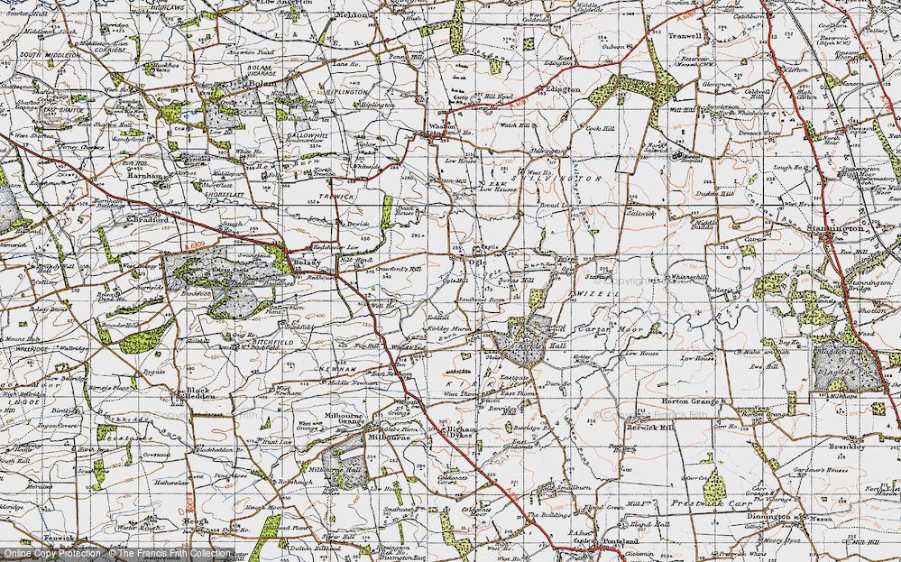 Old Map of Ogle, 1947 in 1947