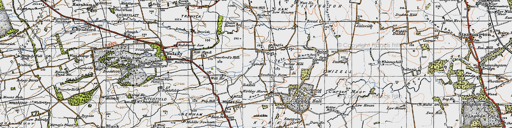 Old map of West Thorn in 1947