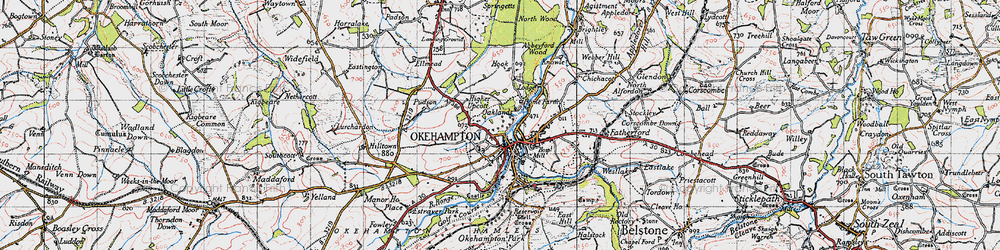 Old map of Woodclose in 1946