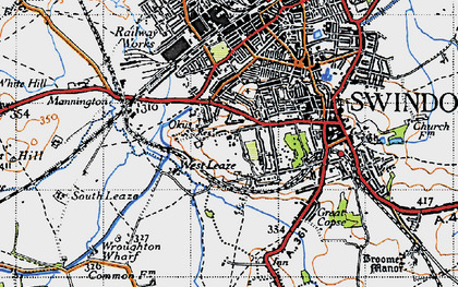 Old map of Westleaze in 1947