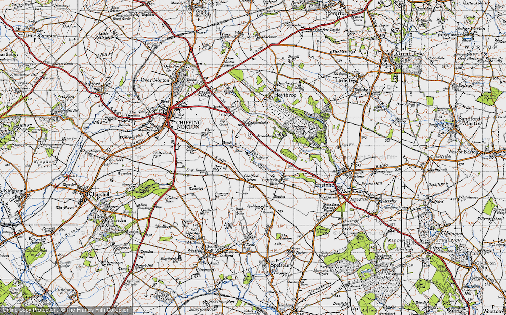 Old Map of Old Chalford, 1946 in 1946