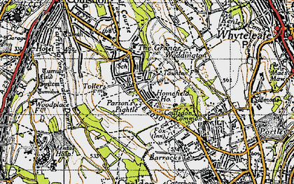Old map of Old Coulsdon in 1946
