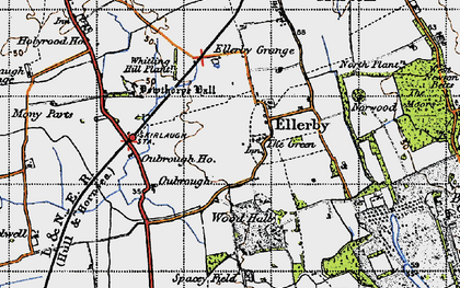 Old map of Wood Hall in 1947