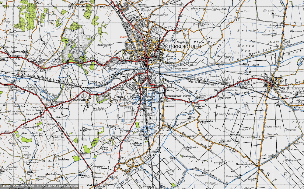 Old Map of Old Fletton, 1946 in 1946