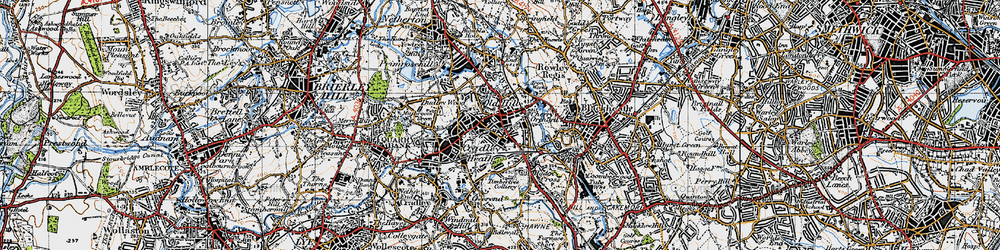 Old map of Old Hill in 1946