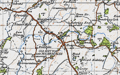 Old map of Audlands Park in 1947