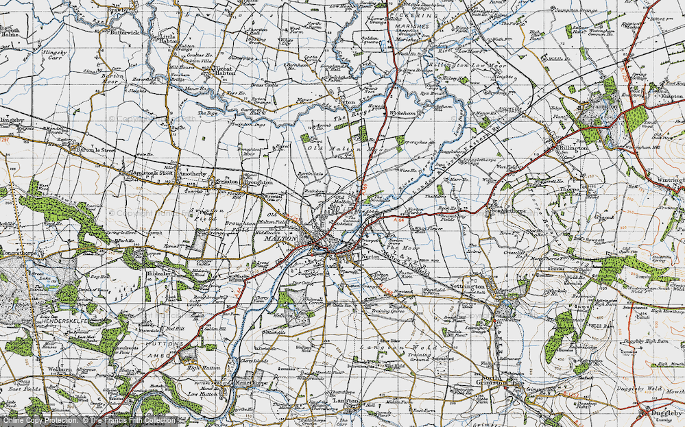 Old Map of Historic Map covering Abbey Ho, The in 1947