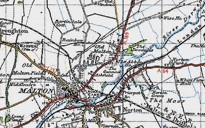 Old map of Abbey Ho, The in 1947