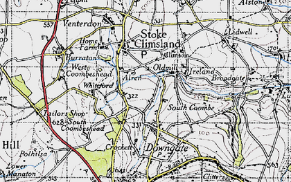 Old map of Old Mill in 1946