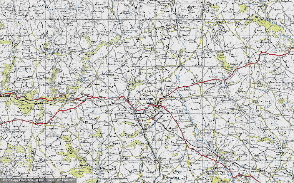 Old Map of Historic Map covering Woodhill Manor in 1946