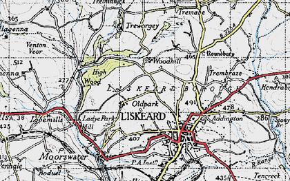 Old map of Old Park in 1946