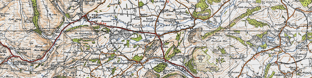 Old map of Old Radnor in 1947