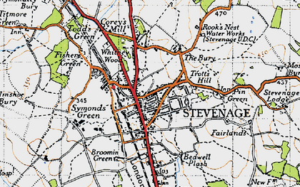 Old map of Old Town in 1946