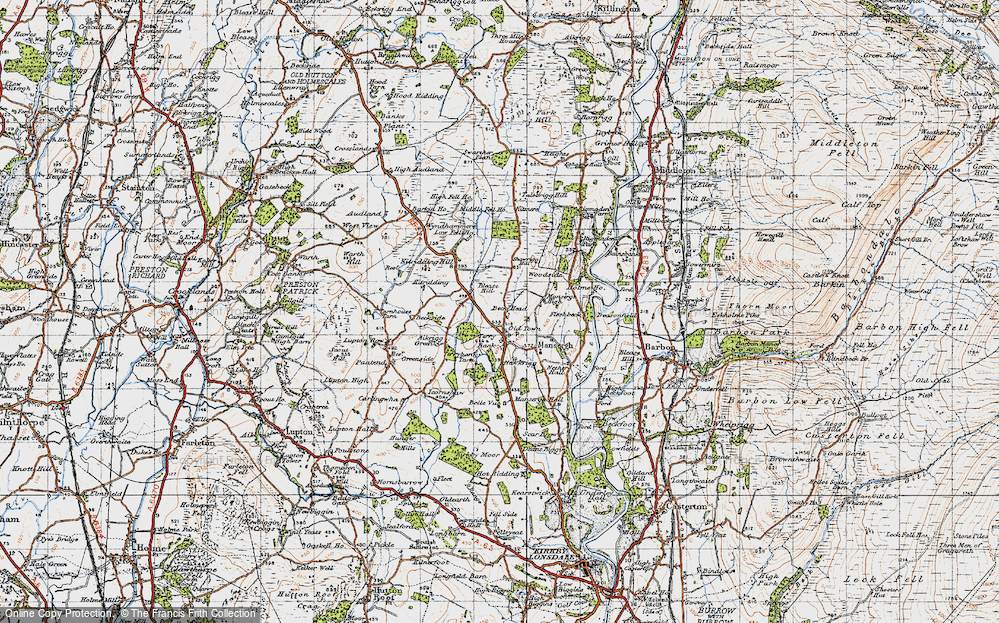 Old Map of Historic Map covering Barkin Ho in 1947