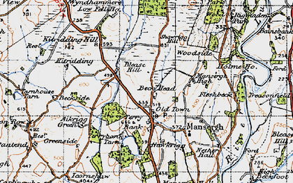 Old map of Wyndhammere in 1947