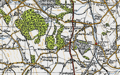 Old map of Old Tupton in 1947