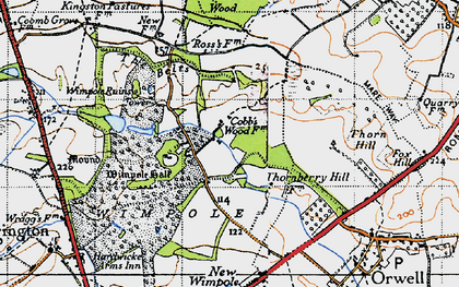 Old map of Wimpole Way in 1946