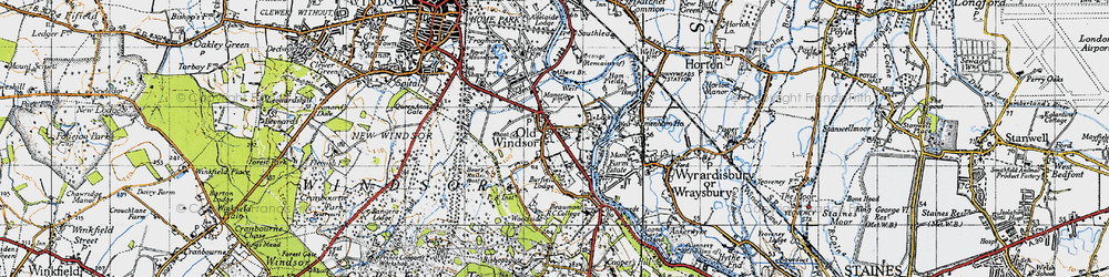 Old map of Albert Br in 1945