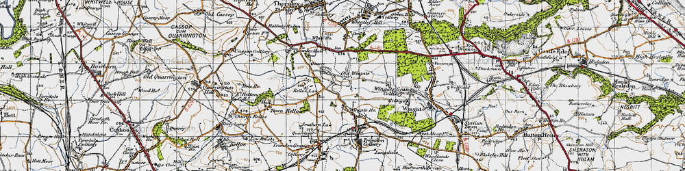Old map of Wingate Ho in 1947