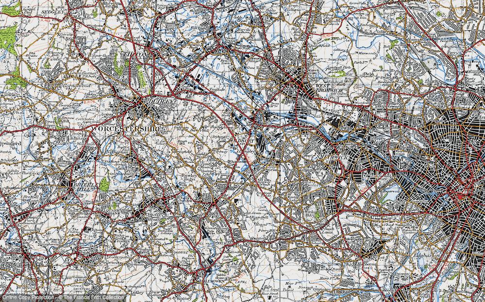 Old Map of Oldbury, 1946 in 1946
