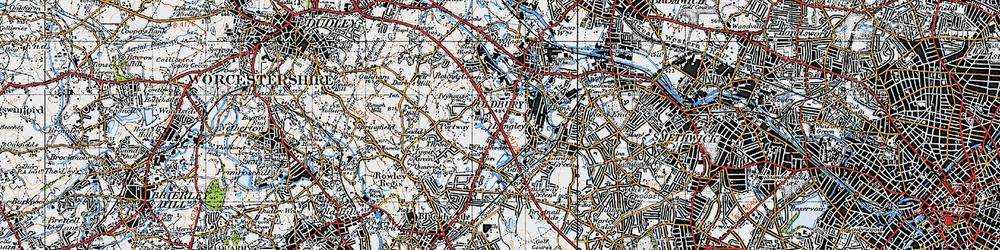 Old map of Oldbury in 1946