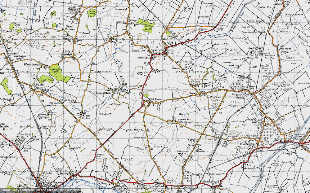 Old Map of Oldhurst, 1946 in 1946