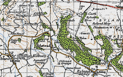 Old map of Sutton Bank in 1947