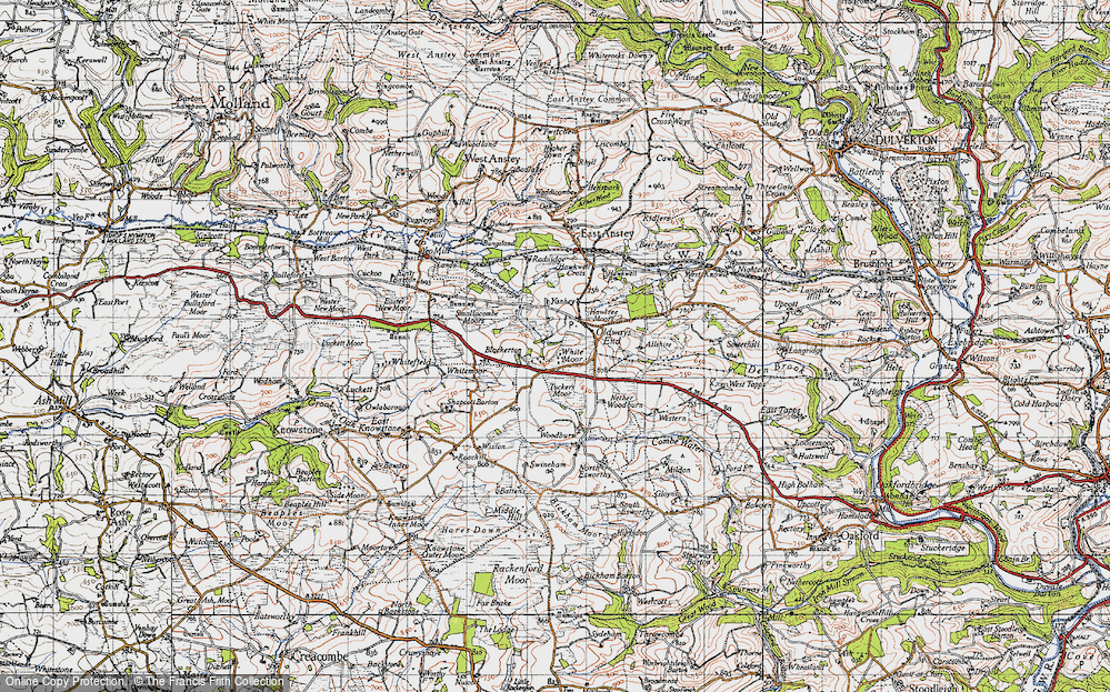 Old Map of Historic Map covering Allshire in 1946