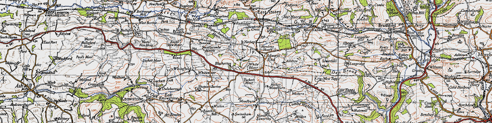 Old map of Allshire in 1946