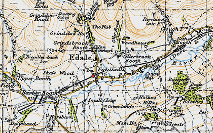 Old map of Ollerbrook Booth in 1947